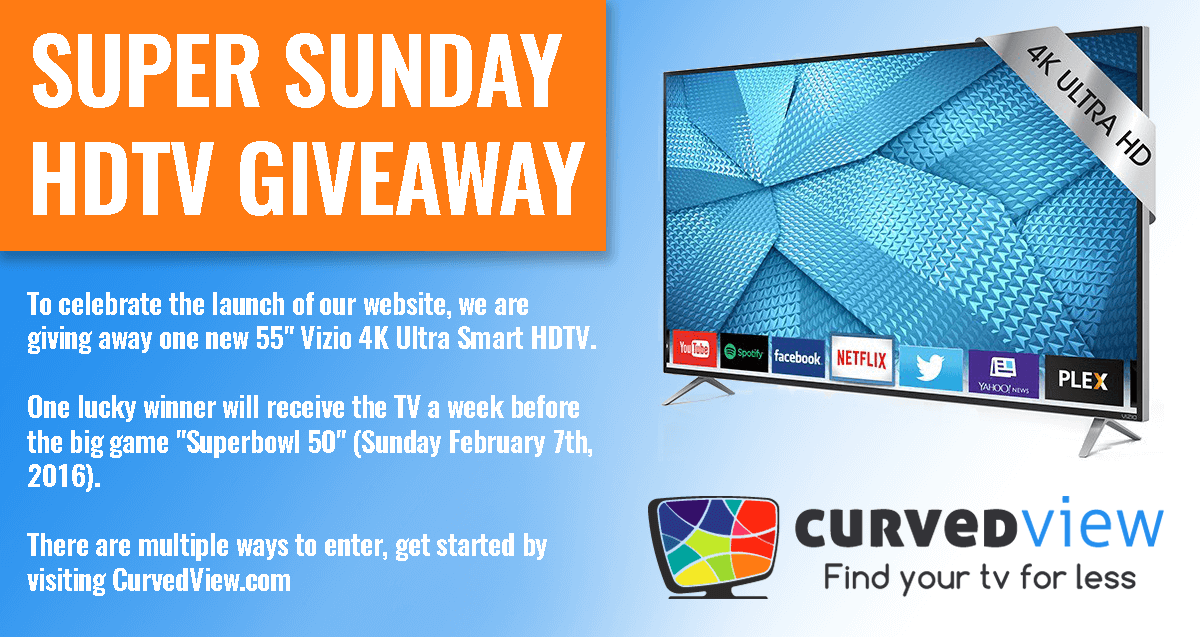 CurvedView Super Sunday Giveaway