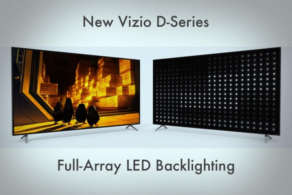 new vizio d-series backlighting technology