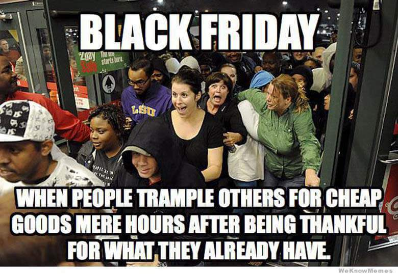 Black Friday sales meme